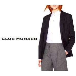 CLUB MONACO Black Cotton Classic Blazer